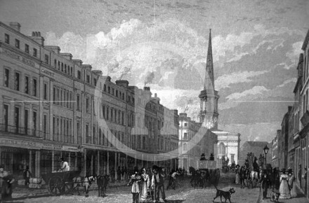 Lord Street with St George's Church, early 1830s
