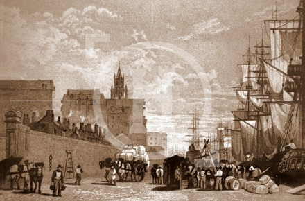 Princes Dock in the 1830s