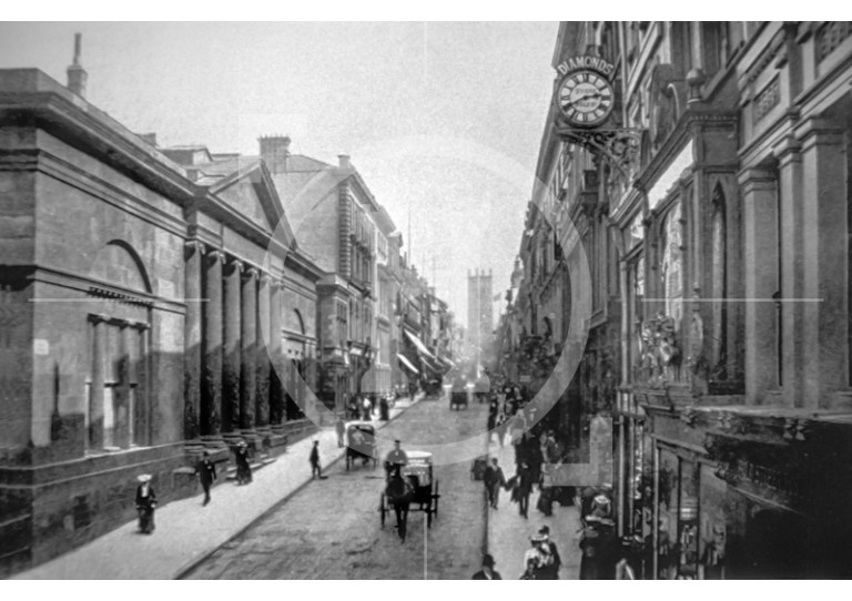 Bold Street, looking towards St Luke's Church