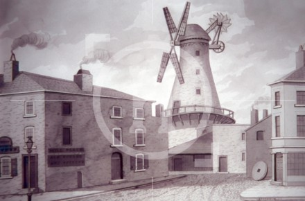 The windmill in Mill Place, top of Shaw's ...