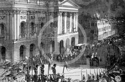 Arrival of Queen Victoria at the Town Hall