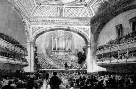 Soiree given to Mr Bright, Philharmonic Hall,  1859