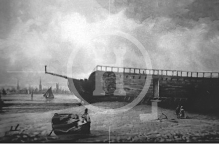 The Floating Bath on the shore at Wallasey ...