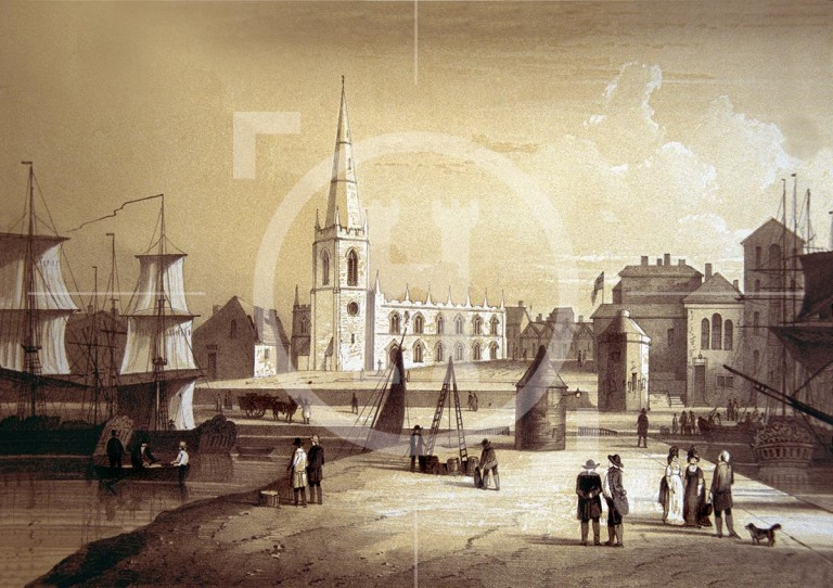 The Church of Our Lady and St Nicholas and quaysides, 1797.c
