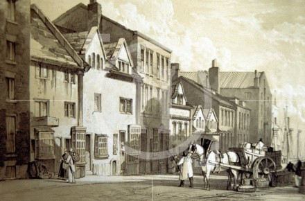 James Street, south side looking west, c1822