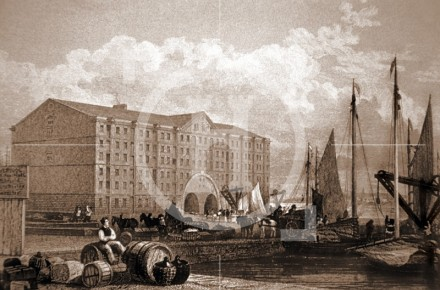 Duke's Dock and warehouses.