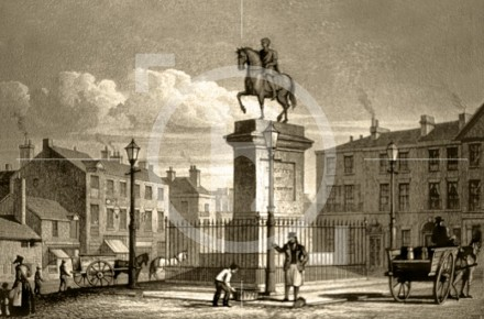 The Statue of George III, London Road, c 1835
