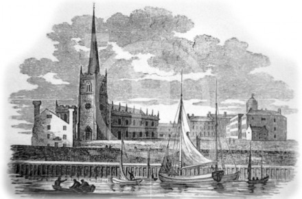 Waterfront and St Nicholas's Church, early 1800s