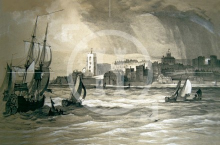 View of Liverpool from the River Mersey, c1682