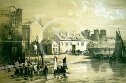 Old Custom House and Castle, c1680