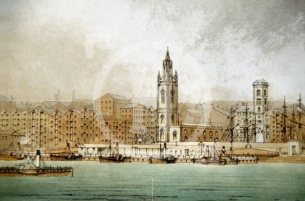 View of Liverpool from the River Mersey