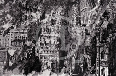 Bold Street as seen from a balloon, 1885