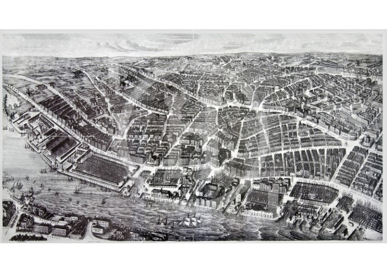 Ackermann's Panoramic View of Liverpool, 1847