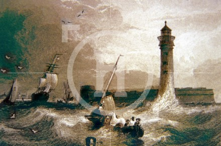 Black-Rock Fort [Fort Perch Rock] and Lighthouse, early 1830...