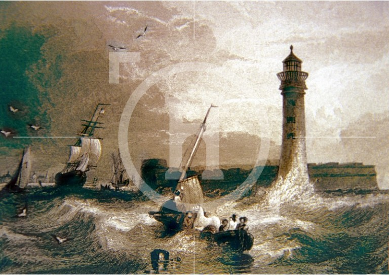 Black-Rock Fort [Fort Perch Rock] and Lighthouse, early 1830s