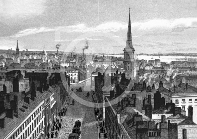 A view from the Town Hall, 1839