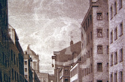 Water Street in the 1830s, looking towards the ...