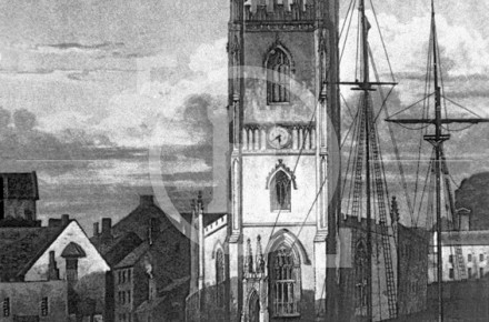 St Nicholas's Church and George's Basin, c 1824