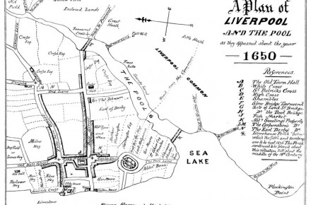 Plan of Liverpool, 1650