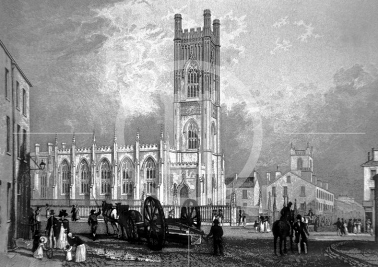 View of St Luke's Church, which was opened in 1829