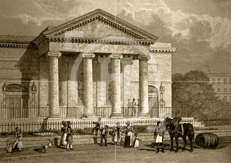 Brunswick Chapel, Moss Street, c 1832