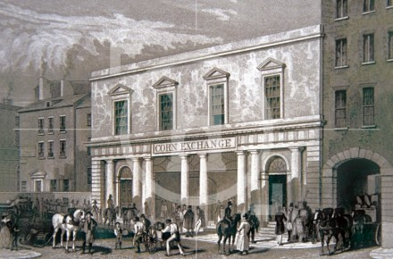 The Corn Exchange, Brunswick Street, c 1832