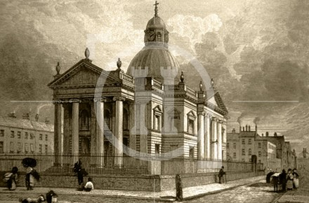St Paul's Church, St Paul's Square, c 1832