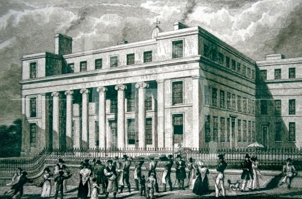 The Infirmary, Brownlow Street, in the 1830s