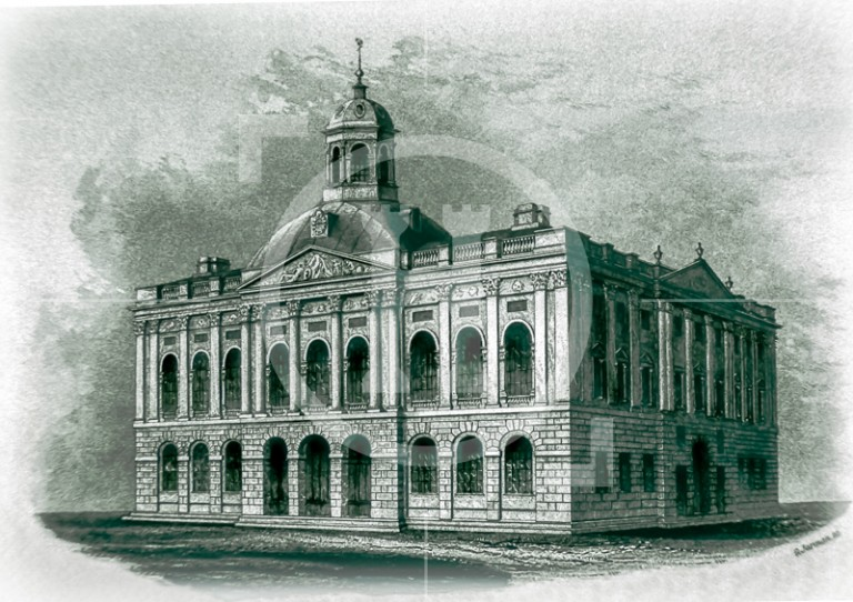 Liverpool's third Town Hall - before the fire in 1795
