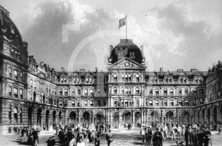 Exchange Buildings and Flags, c 1866