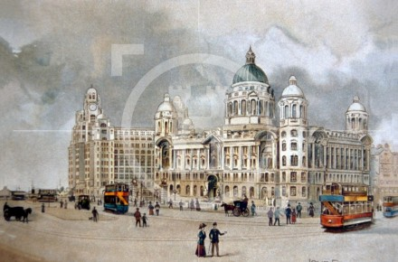 The beginning of Liverpool's world-famous waterfront