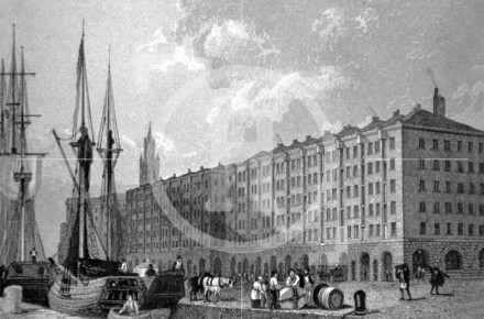 The Goree Warehouses, George's Dock, 1830