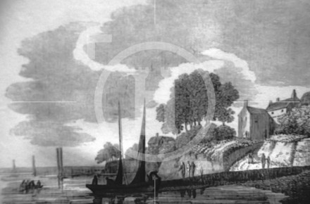 Woodside before introduction of steam ferries c1818