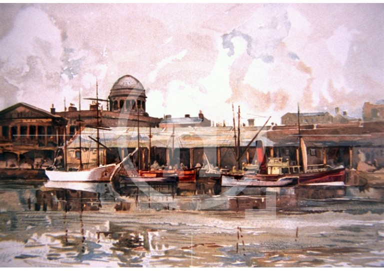 Salthouse Dock and the Custom House, 1910