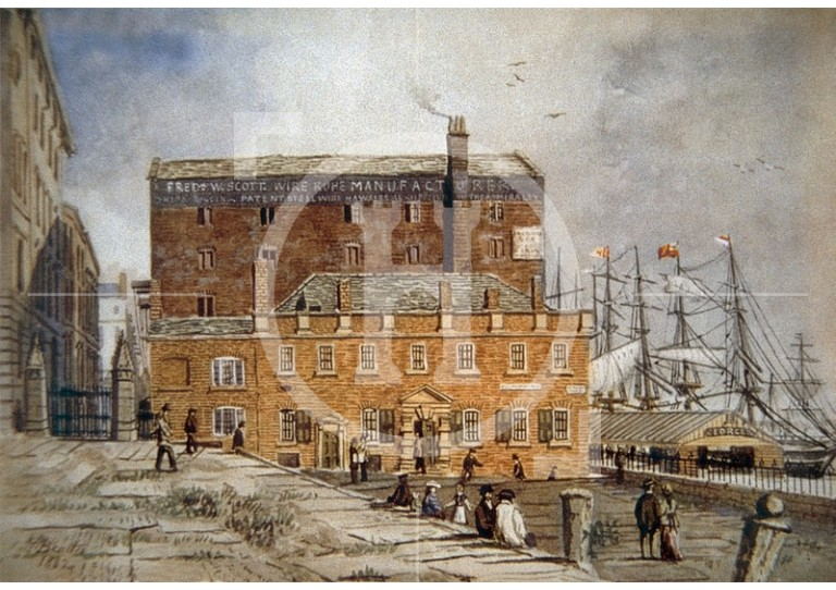 George's Dock and the Merchants' Coffee House, 1882