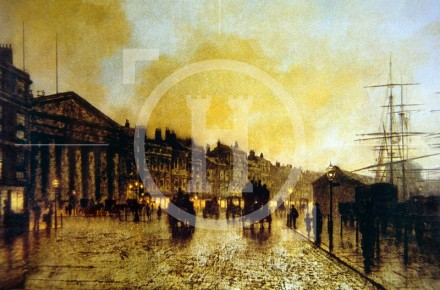 Atkinson Grimshaw: The Customs House