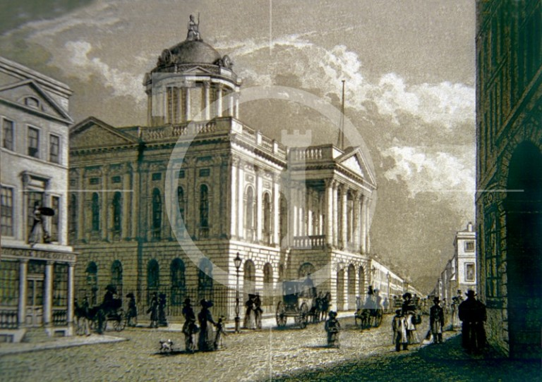 A view of the present Town Hall in the 1830s